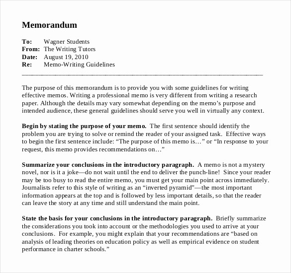 Format Of A Business Memorandum Inspirational Business Memo Template 22 Word Pdf Google Docs