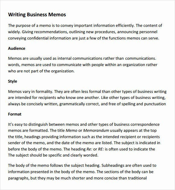 Format Of A Business Memorandum Luxury 7 Pany Memo Templates
