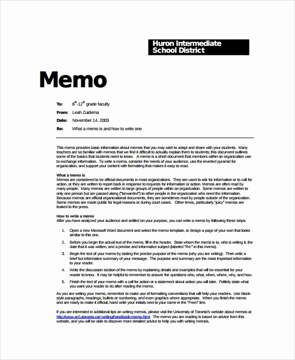 Format Of A Business Memorandum Unique 8 formal Memo Templates