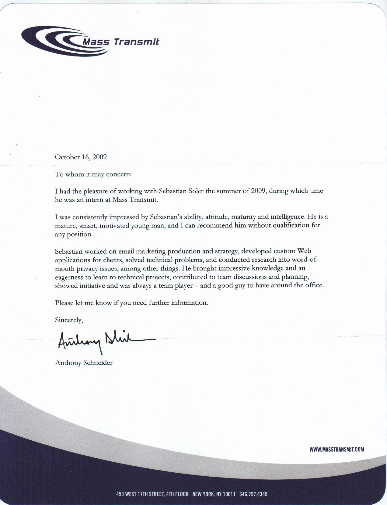 Format Of A Recomendation Letter Fresh Re Mendation Letter format for Internship