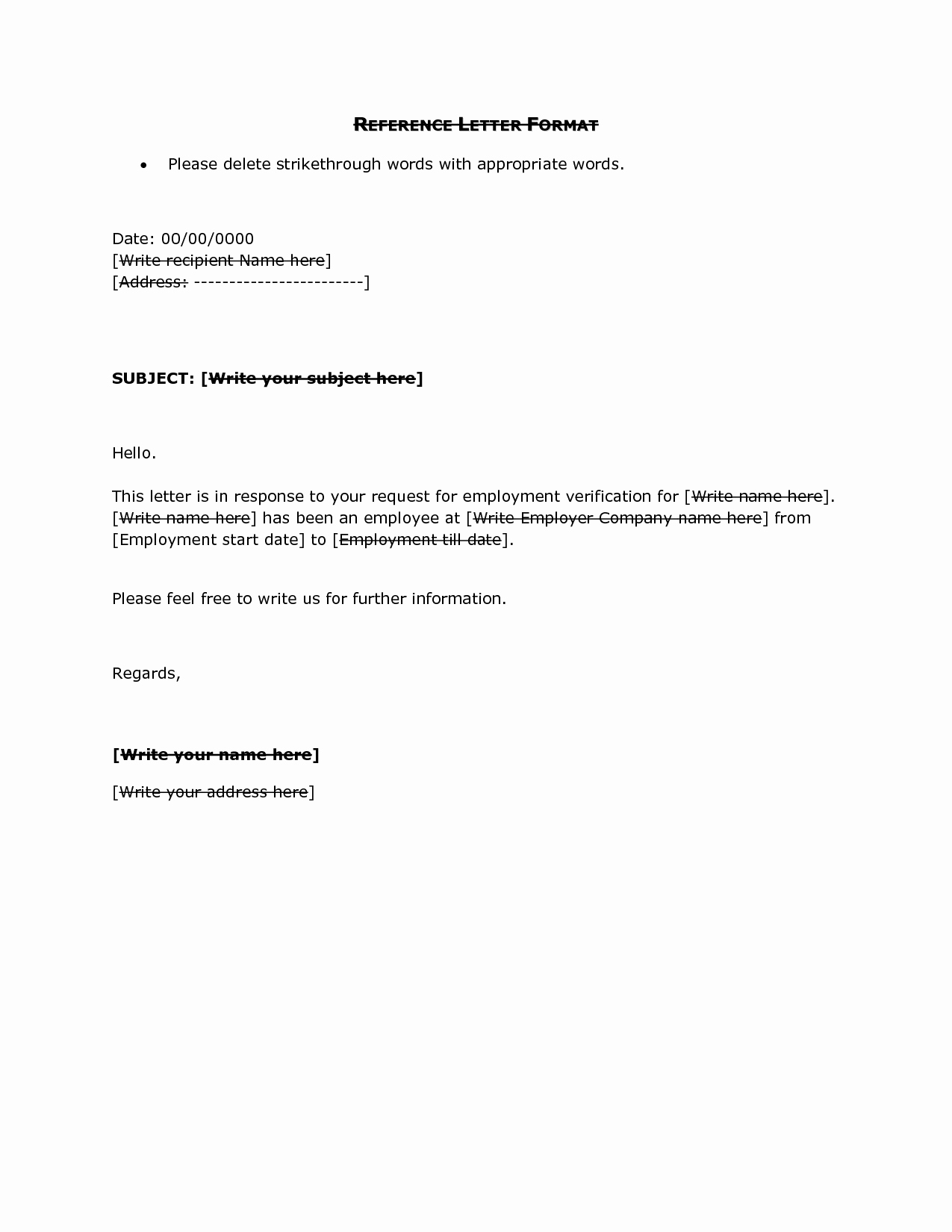 Format Of A Recommendation Letter New Reference Letter format Doc Reference Letter