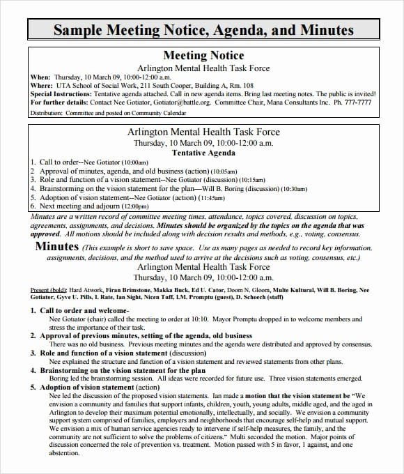 Format Of Minute Of Meeting Luxury 7 Free Meeting Minutes Templates Excel Pdf formats