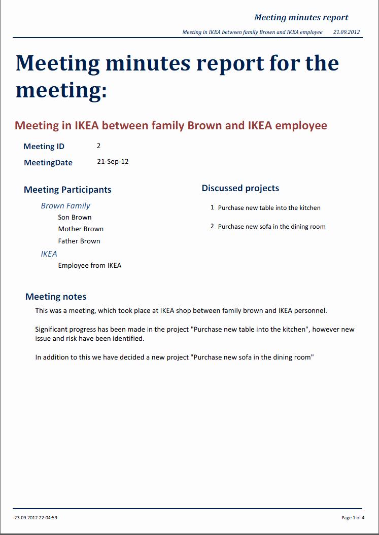 Format Of Minutes Of Meetings Beautiful Miraapt tool
