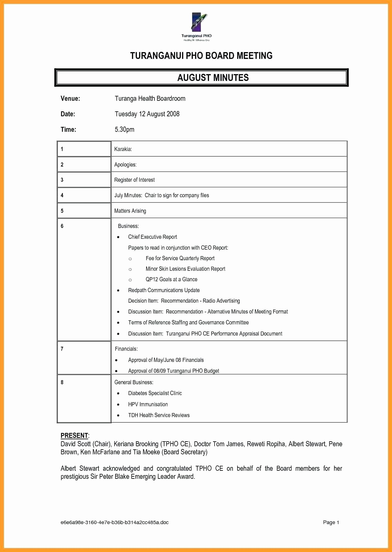 Format Of Minutes Of Meetings Best Of Template Meeting Meetings Template Minutes format
