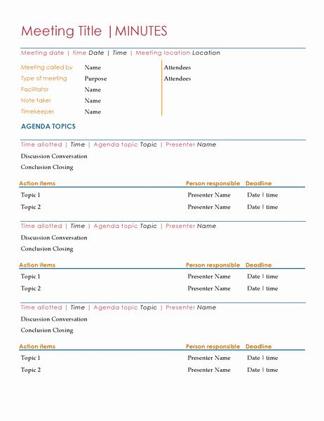 Format Of Minutes Of Meetings Elegant Meeting Minutes