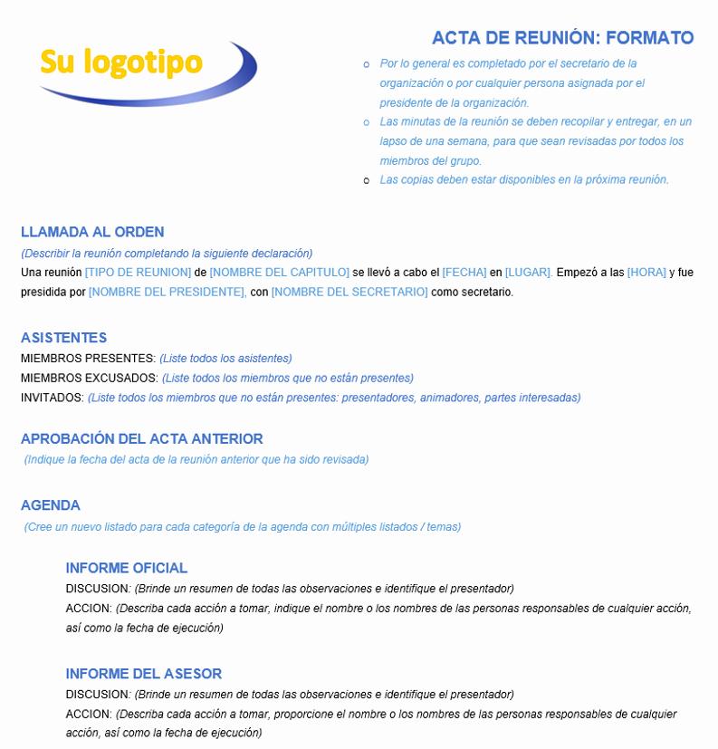 Formato Acta Reunion De Trabajo Inspirational Plantillas De Minutas Para Microsoft Word Gratis Smartsheet