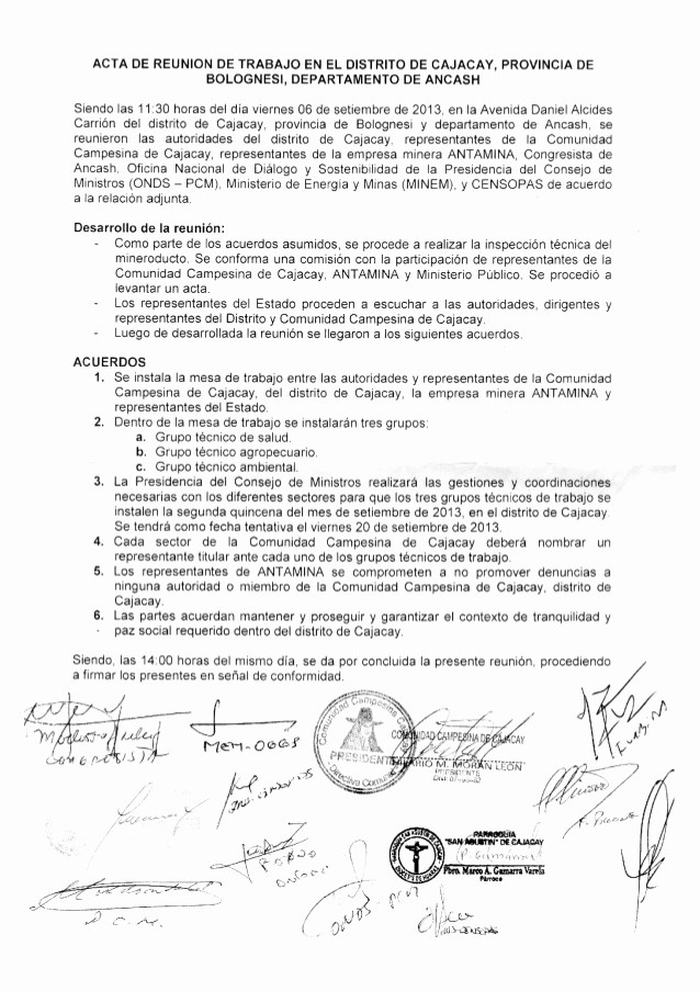 Formato Acta Reunion De Trabajo New Acta De Reunión De Trabajo Entre La Unidad Campesina De