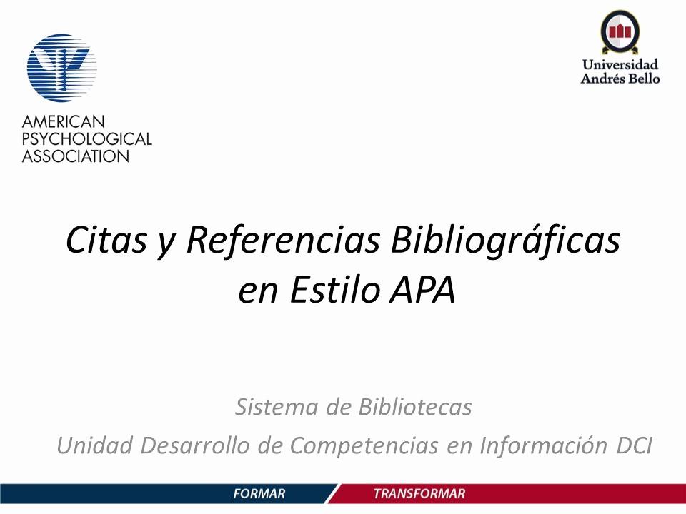 Formato Apa Sexta Edicion Descargar Awesome Citas Y Referencias Bibliográficas En Estilo Apa Ppt
