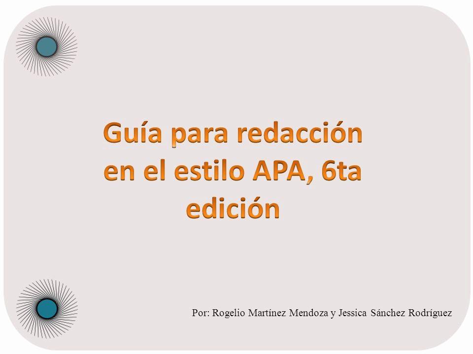 Formato Apa Sexta Edicion Descargar Beautiful Gua Para Redacción En El Estilo Apa 6ta Edición Ppt