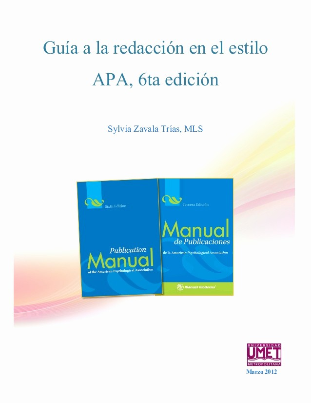 Formato Apa Sexta Edicion Descargar Beautiful normas Apa 2013 2