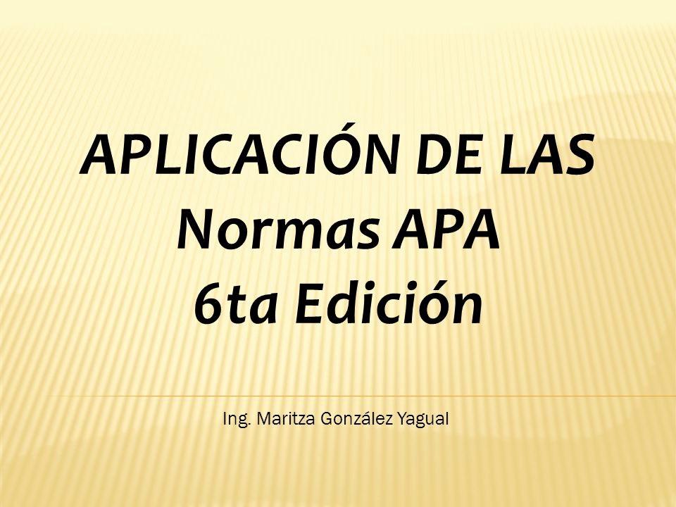 Formato Apa Sexta Edicion Descargar Elegant AplicaciÓn De Las normas Apa 6ta Edición Ppt Descargar
