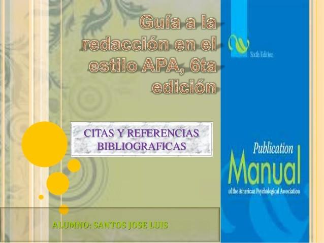 Formato Apa Sexta Edicion Descargar Lovely normas Apa 6 Edición