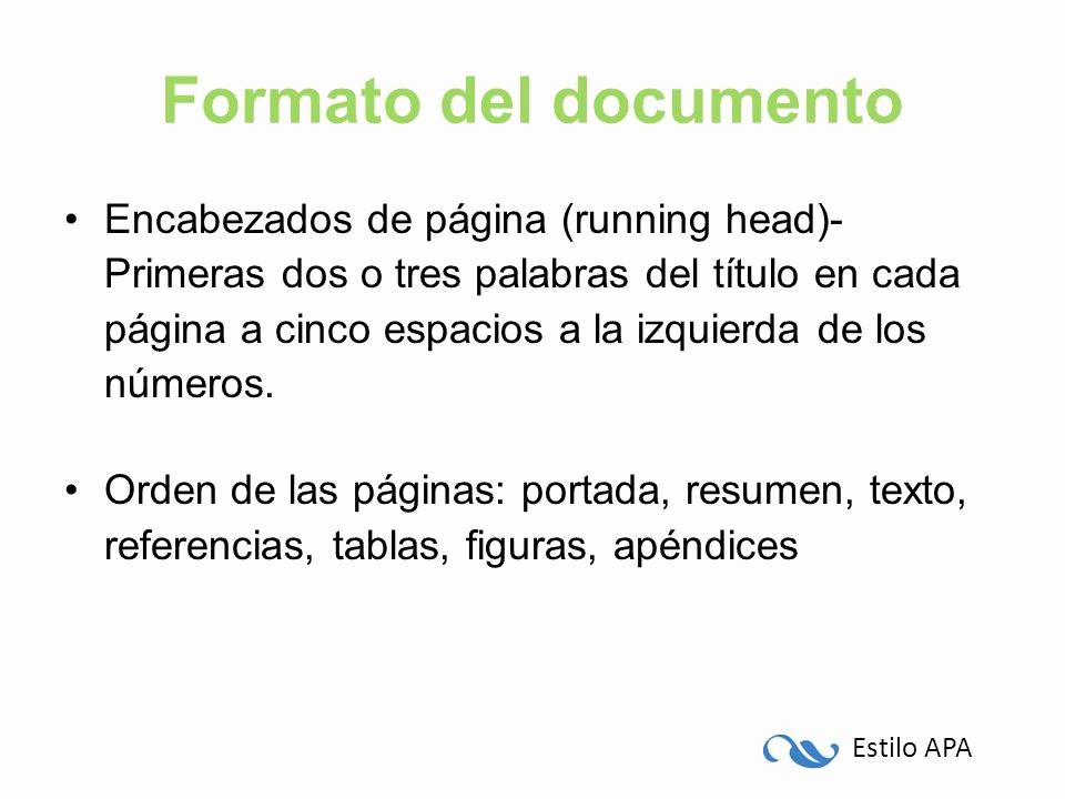 Formato Apa Sexta Edicion Descargar Unique Apa 6ta Edición Citas Referencias Y formato Del