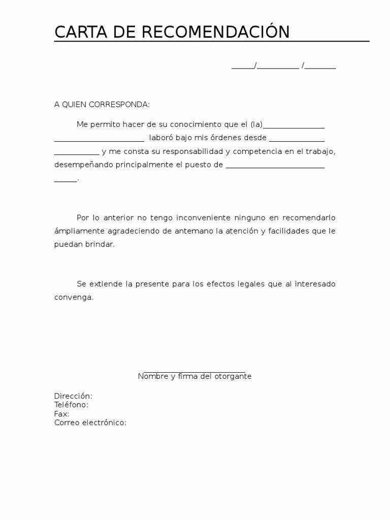Formato Carta De Recomendacion Personal Awesome Carta De Re Endación Personal ¿cómo Hacer Una Aqu