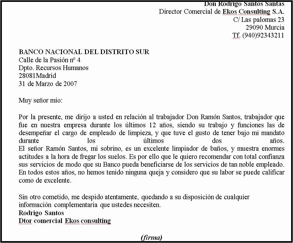 Formato Carta De Recomendacion Personal Luxury formato De Carta De Re Endacion – formato Carta