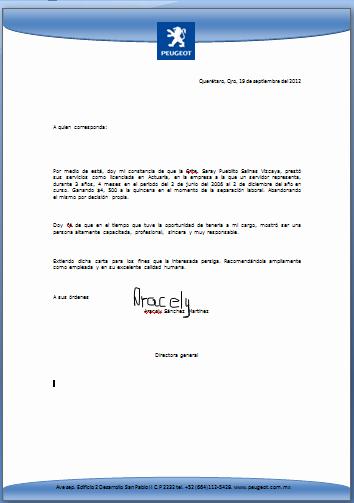 Formato Carta De Recomendacion Personal New formato Carta Re Endacion
