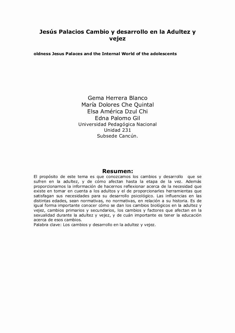 Formato Carta De Recomendacion Personal Unique formato Apa Pens[2] form Adolesc America