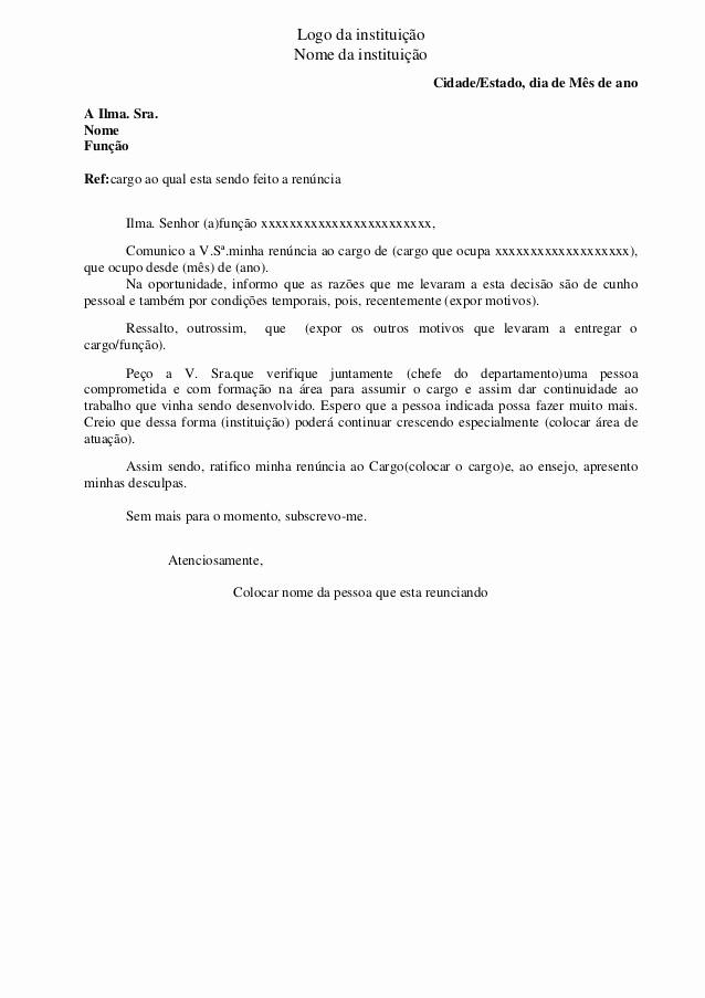 Formato Carta De Renuncia Sencilla Awesome Modelo Carta De Renuncia