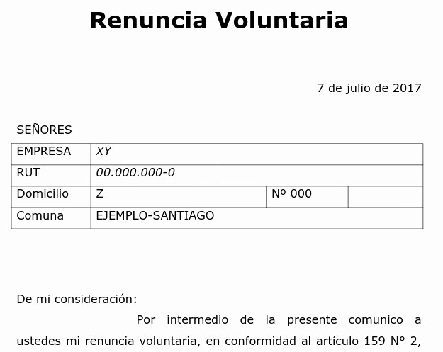 Formato Carta De Renuncia Sencilla Awesome Notiguias Carta Explicativa Para Renuncia Voluntaria