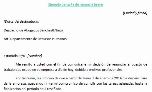 Formato Carta De Renuncia Sencilla Elegant Carta De Renuncia A Un Puesto De Trabajo Ejemplo