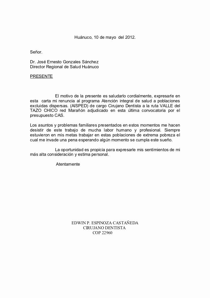 Formato Carta De Renuncia Sencilla Unique Ejemplos De Carta De Renuncia Voluntaria De Trabajo
