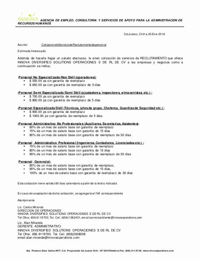 Formato Cotizacion De Servicios Profesionales Fresh Perfecto Invitacin A La Plantilla De Cotizacin Bandera