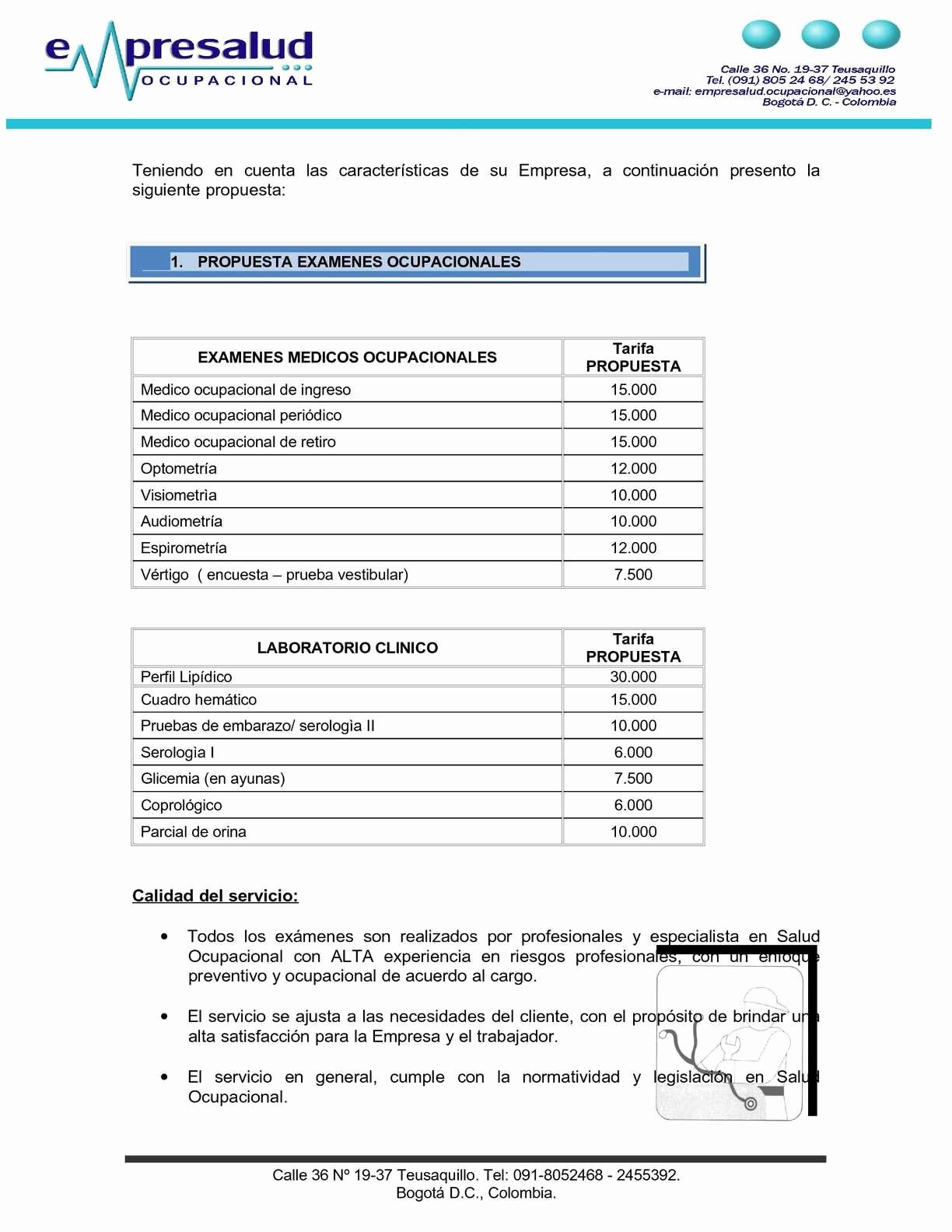 Formato Cotizacion De Servicios Profesionales Luxury Ejemplo Propuesta De Servicios Calameo Downloader