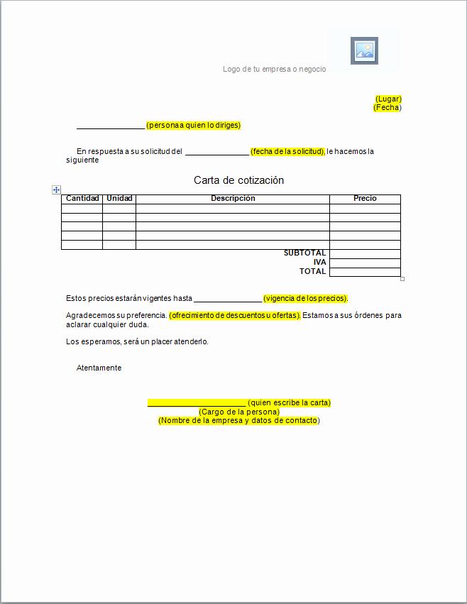 Formato Cotizacion De Servicios Profesionales Unique formato Para Cotizacion Word Idealstalist