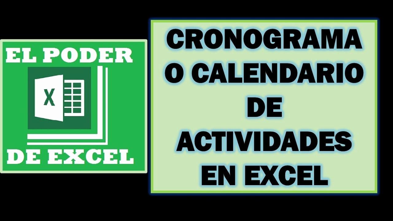 Formato Cronograma De Actividades Excel Beautiful Cronograma O Calendario De Actividades En Excel Enfocado A