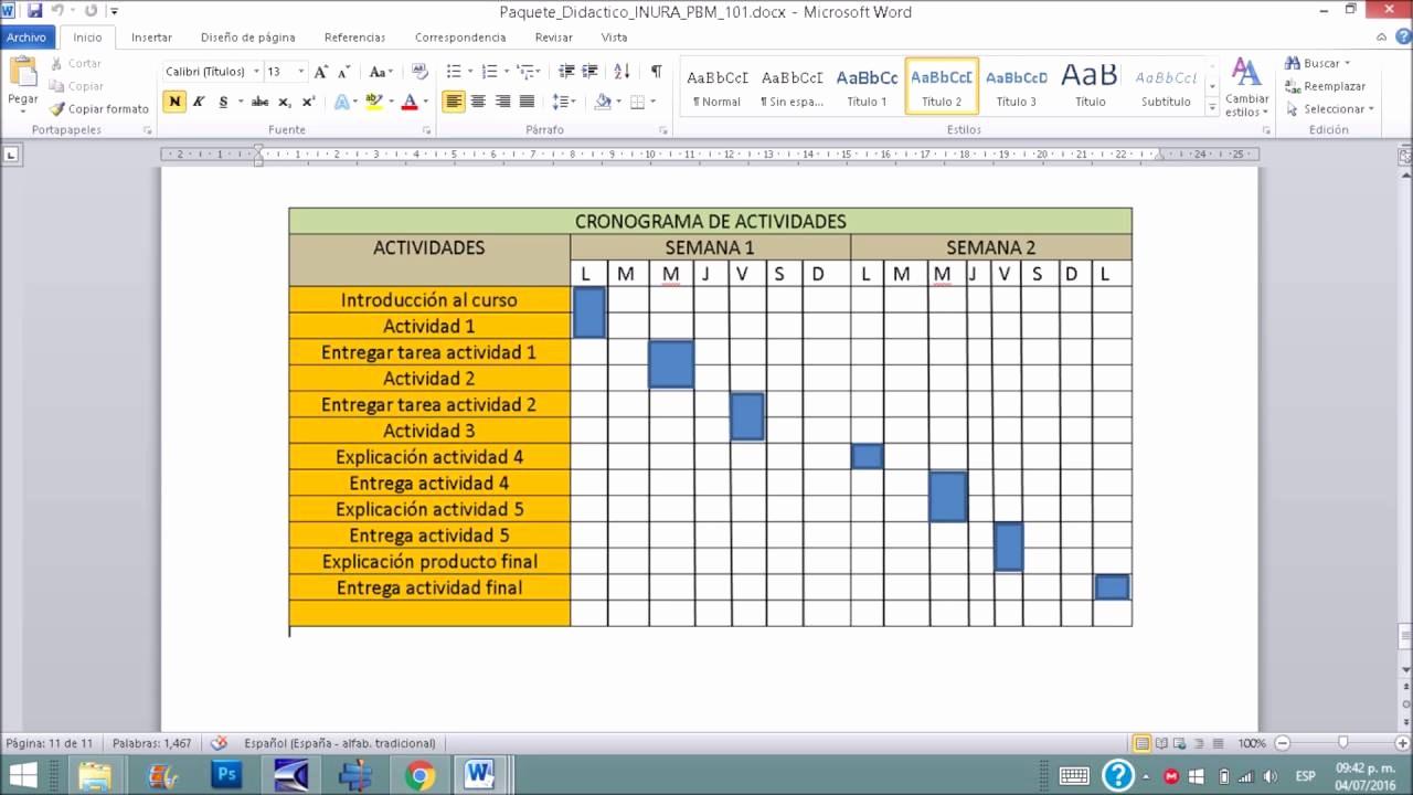 Formato Cronograma De Actividades Excel Beautiful Explicación Del Cronograma Cuando Van A Entregar Cada
