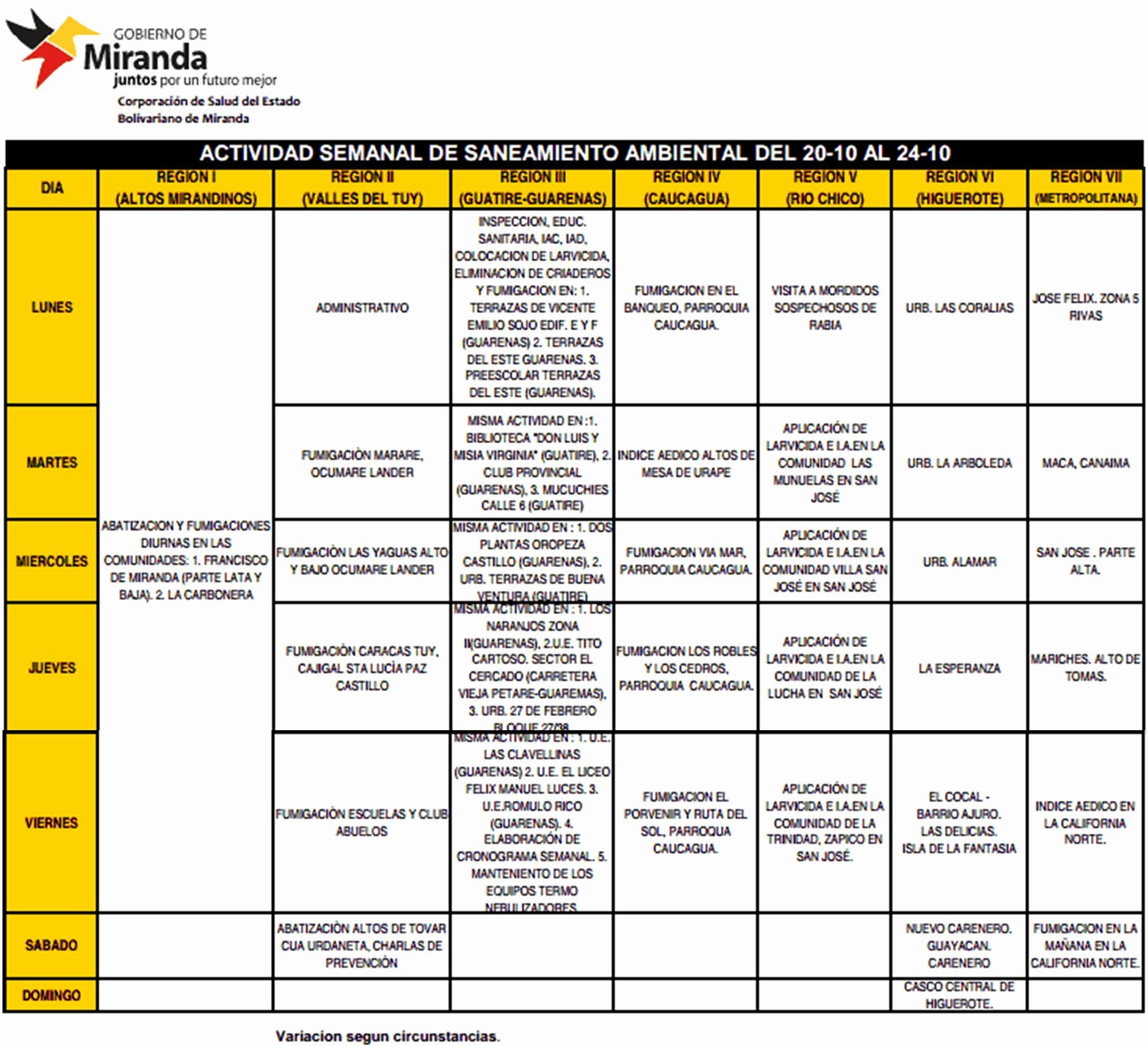 Formato Cronograma De Actividades Excel Best Of Octubre 2014 Salud Miranda