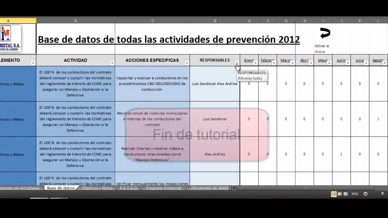 Formato Cronograma De Actividades Excel Elegant Tutorial Ficha Excel Gestión Pleta De Actividades