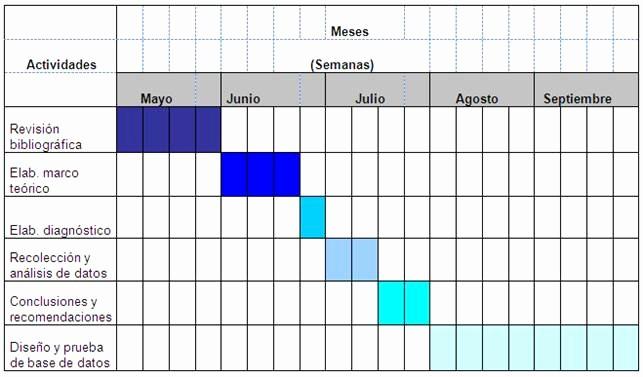 Formato Cronograma De Actividades Excel Fresh Propuesta Para La Automatización Y Sistematización De La