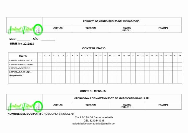 Formato Cronograma De Actividades Excel Luxury 6 formato Mantenimientos Y Cronograma