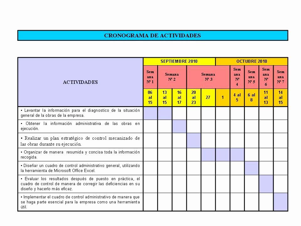 Formato Cronograma De Actividades Excel Luxury PasantÍas Supervisadas Ii 2010 Iii