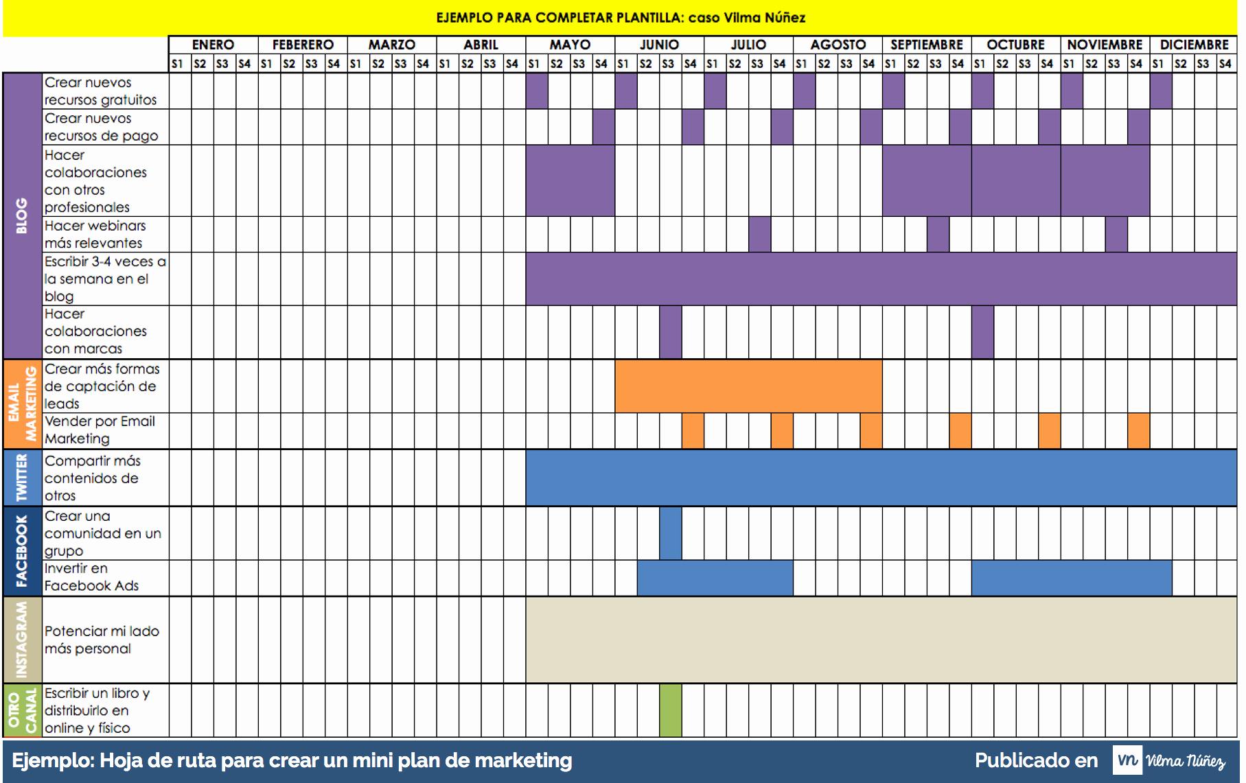 Formato Cronograma De Actividades Excel New 12 Pasos Para Crear Una Estrategia De Marketing Online