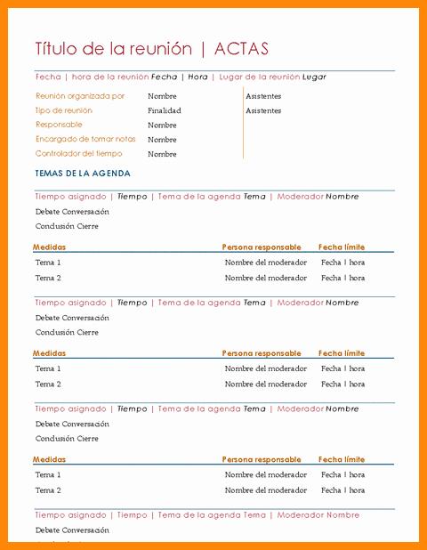 Formato De Agenda De Reuniones Elegant 13 14 formato De Agenda Para Reuniones