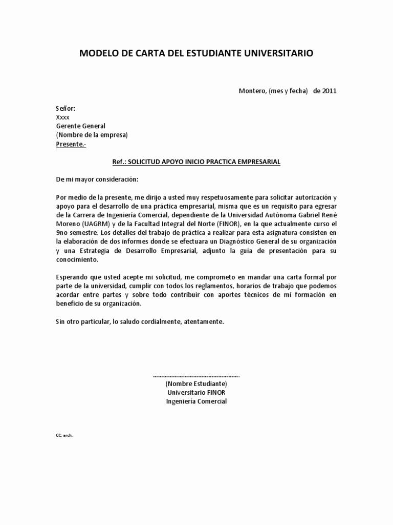 Formato De Carta De solicitud Awesome 1 Modelos De Carta solicitud Practica Empresarial