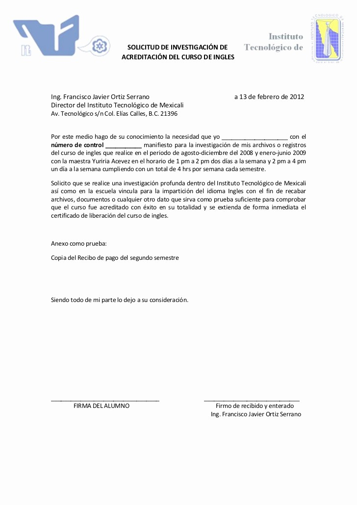 """Formato De Carta De solicitud Fresh formato """"solicitud De Investigación"""""""