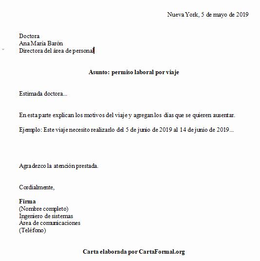 Formato De Carta De solicitud Inspirational O Hacer Una Carta formal De solicitud De Permiso Ejemplos