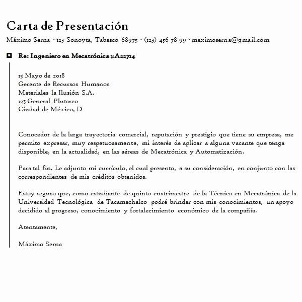 Formato De Carta De solicitud Lovely Carta De solicitud De Empleo Y Trabajo Ejemplo En