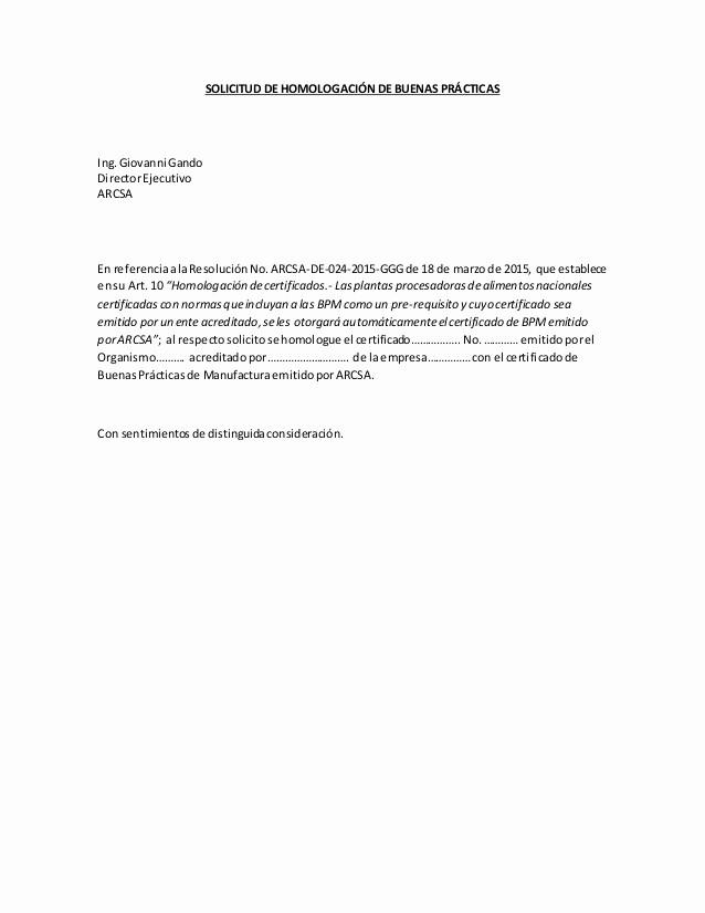 Formato De Carta De solicitud Lovely formato solicitud De Homologación 1