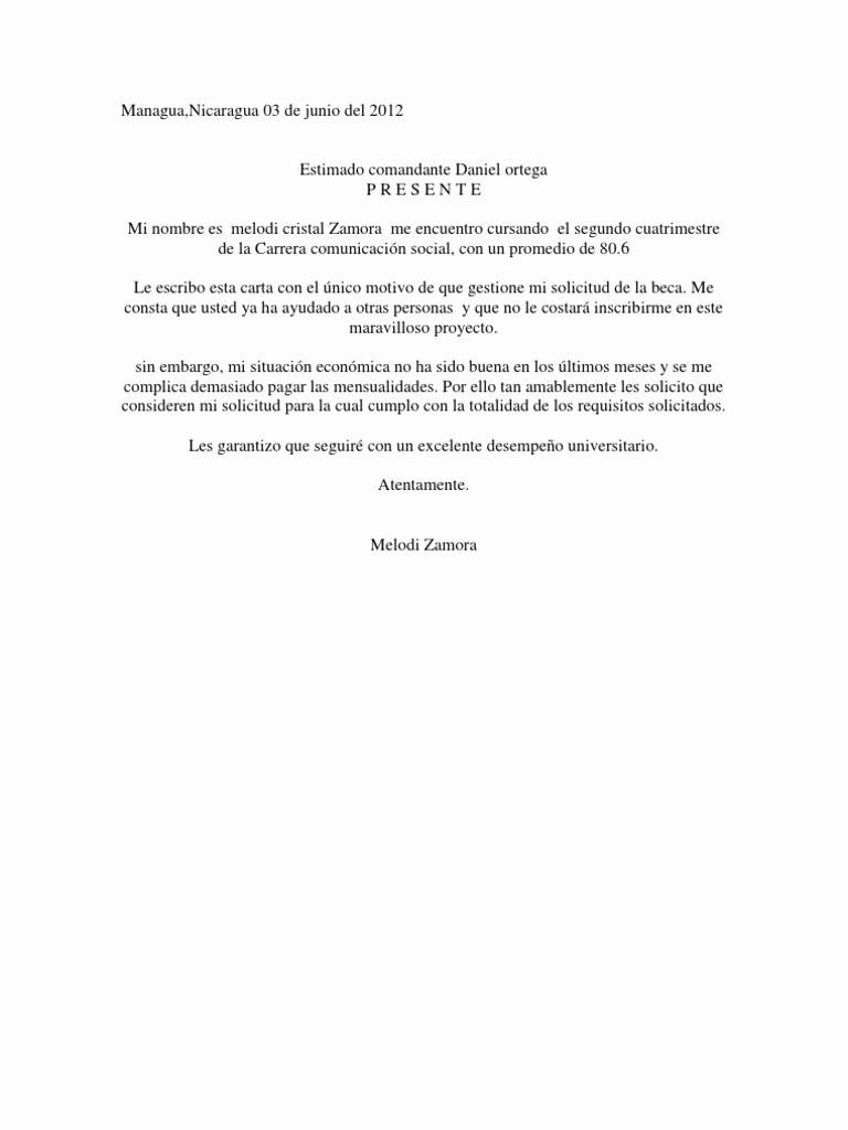 Formato De Carta De solicitud Luxury Carta De solicitud De Beca