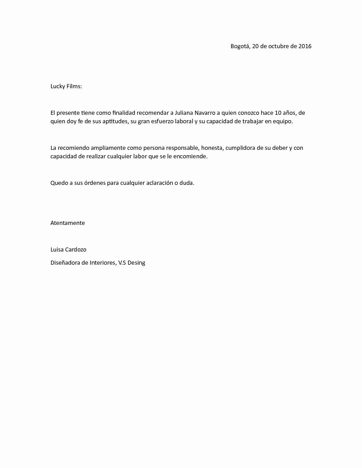 Formato De Carta Recomendacion Laboral Best Of Calaméo Ejemplo Carta De Re Endacion Personal