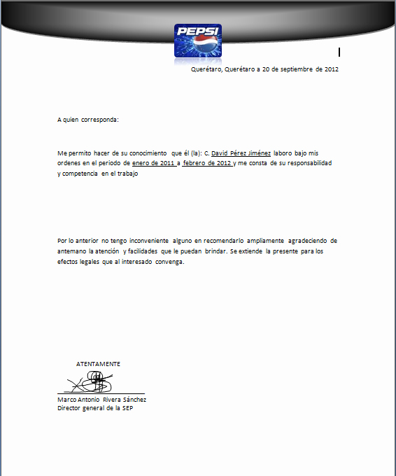 Formato De Carta Recomendacion Laboral Elegant top Cartas De Re Endacion Personal formato for