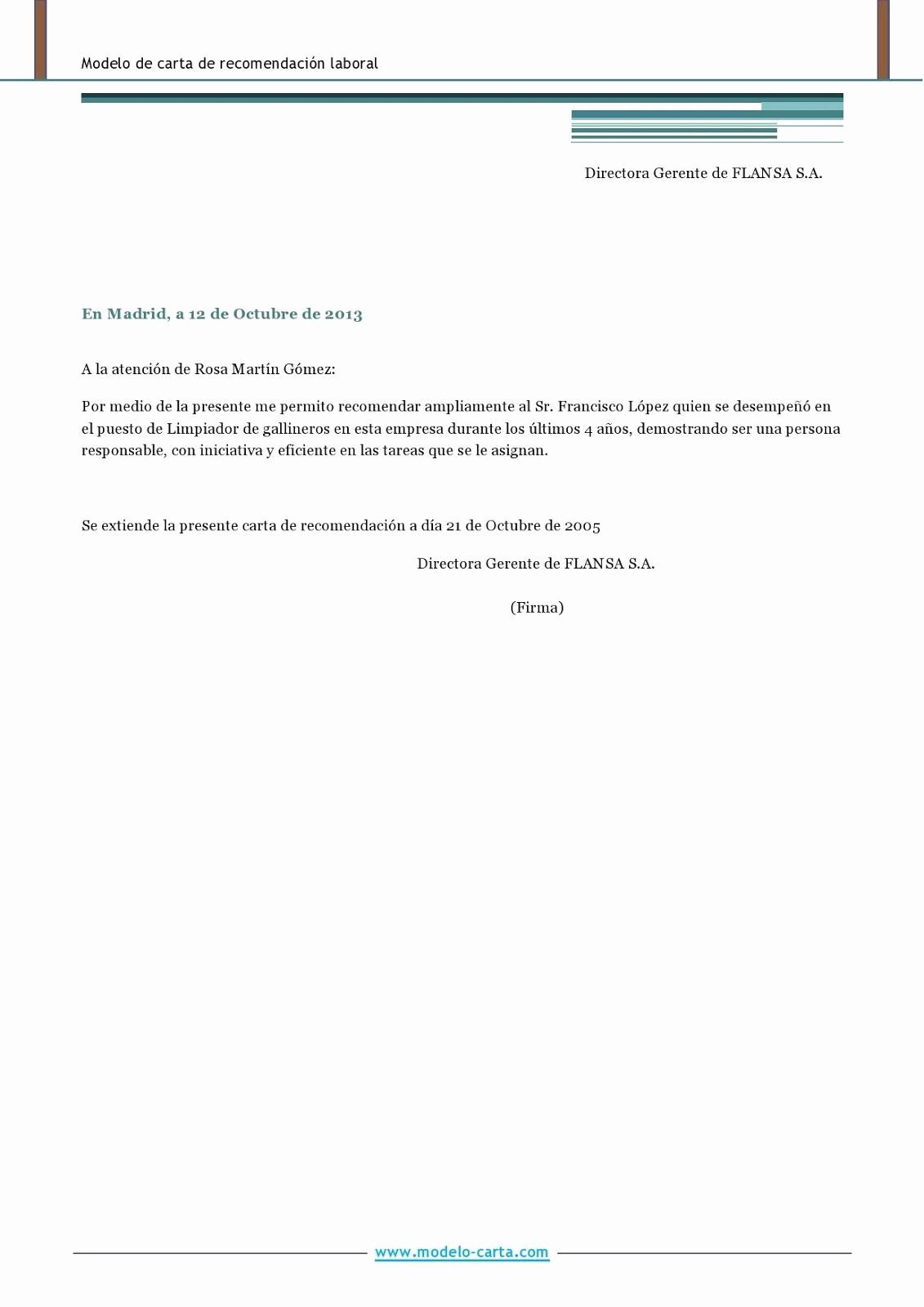 Formato De Carta Recomendacion Laboral Inspirational Carta De Re Endacion Personal Word Wood Scribd Mexico