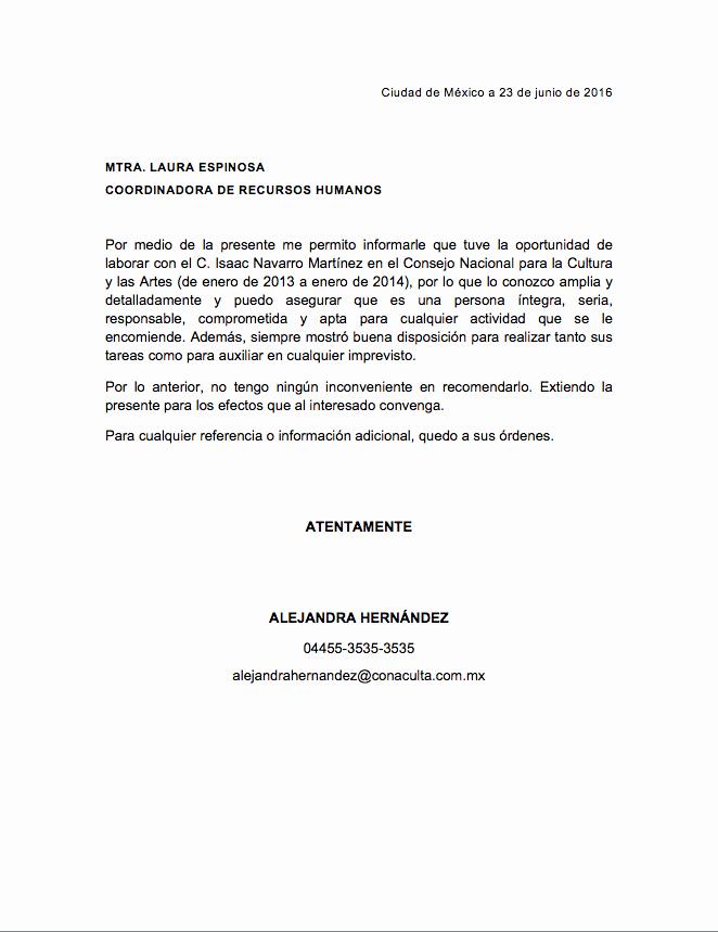 Formato De Carta Recomendacion Laboral Unique Carta De Re Endación Personal formatos Y Ejemplos