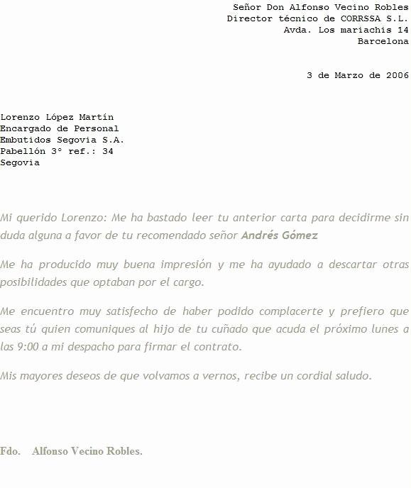 Formato De Carta Recomendacion Laboral Unique Machotes Carta De Re Endacion Personal Imagui