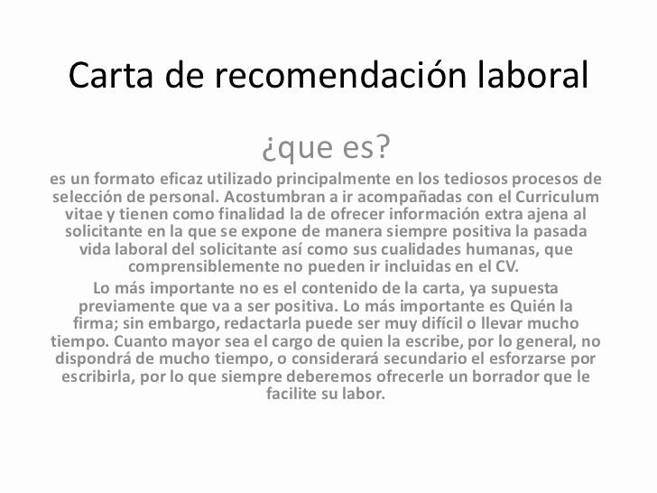 Formato De Carta Recomendacion Personal Elegant Carta De Re Endación Laboral
