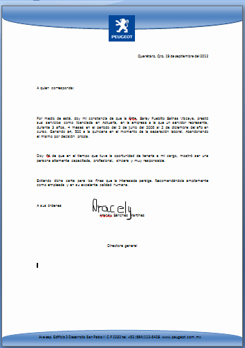 Formato De Carta Recomendacion Personal Elegant formato Carta Re Endacion